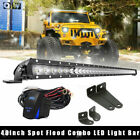 200W 40 LED Light Bar w Mounting Brackets Wiring Harness kit For 2014+ Tundra