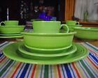 Fiesta RETIRED CHARTREUSE 5-Piece Dish Place Setting ~
