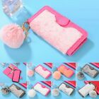 Luxury Furry Rabbit Fur Magnetic Stand Walllet Case Cover For IPhone 6 6s 7 8+ X