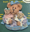 Boyds Bears BEARWEAR Pin Brooch World's Bestest Mom Mother's Day New on Card