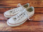 Converse All Star White Lace Up Canvas Sneakers Size Womens 75