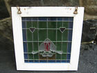 15 x 15 Stained Textured Glass Window Antique Romance Design Hearts