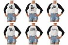 New Life Quotes  Printed 100% Cotton Elbow Sleeves Raglan T-Shirt WTS_03