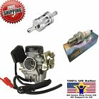 GY6 Carburetor 50cc Scooter Moped Carb SUNL ROKETA TaoTao BAJA Tank Filter Plug