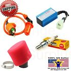 38mm Air Filter Performance CDI Ignition Coil Spark Plug Gy6 PD19J 150cc Scooter