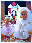 Kniting Pattern Doll Clothes 3 Sizes Ballet Rider Bride Layette Reborn Patons