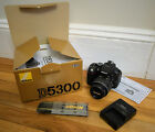 Nikon D5300 242MP DSLR Camera w AF S DX 18 55mm Lens 394 Shutter Count