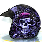 DOSEEI Motorcycle Helmet Open Face Pirate Helmet DOT Retro Harlley Helmet