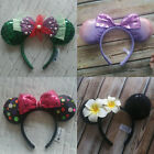 New Disney Parks Flower Minnie Mouse Ears Mickey Party Festical Cos H
