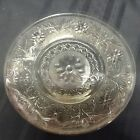 Vintage 12' clear glass serving platter with floral designs  (ZZ F7)
