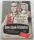 Die große Versuchung Dieter Borsche Ruth Leuwerik Vtg 1952 Danish Movie Program