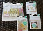 Heidi Swapp Memory Planner Lot Embellishments Paper Pocket Cards 5 pieces