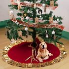 36 Red Christmas Tree Skirt New Year Xmas Tree Carpet Home Outdoor Decoration