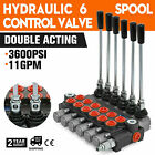 6Spool Hydraulic Directional Adjustable Valve 11gpm Double Acting Cylinder Spool