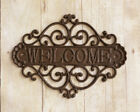 Primitive 'Welcome' Wrought Iron Rustic Farmhouse Metal  NEW