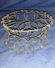 Vintage Primitive Wire Egg Collection Basket Collapsible