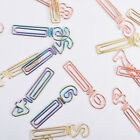 Paper Clips Diy Free Combination Binder Clip Colorful Digital Shaped Paperclip