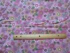 2 Yards Pink Flowered Leaves Flannel Fabric