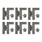 6 Cabinet Hinges Wrought HL Hinge Right 4.5