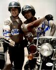 "Eric Estrada ""Ponch""  Larry Wilcox ""Jon"" Chips Autographed 8x10 Photo JSA 5"