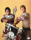 "Eric Estrada ""Ponch""  Larry Wilcox ""Jon"" Chips Autographed 11x14 Photo JSA 6A"