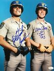 "Eric Estrada ""Ponch""  Larry Wilcox ""Jon"" Chips Autographed 11x14 Photo JSA 3B"