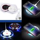 Clear Qi Wireless Fast Charger Charging Pad For Samsung Galaxy S8 S9 iPhone X 8