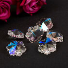 Crystal Snowflake Shape Glass Beads Jewelry Design Charms Accessories DIY Making