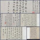 Rare 18th.c Chinese  older Scroll Of Chinese Script With Red Seal's