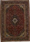 Antique Traditional Handmade Red Kashan Persian Rug Oriental Area Carpet 8X12