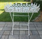 Vintage Victorian cast iron folding table plant stand heavy patio garden