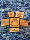 Happy birthday wooden rubber stamps lot