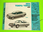 1984 Ford Tempo Mercury Topaz Electrical Wiring Diagrams Service Shop Manual
