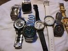 lot of 8 watches Nixon Movado  Nautica Fossil Mk many others parts or repair