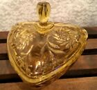Vintage EAPC (Early American Prescut) Amber Covered Candy Dish, Triangular Shape