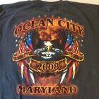 2008 OCEAN CITY MARYLAND MOTORCYCLE BIKE WEEK T-SHIRT ADULT SIZE L H arley HD