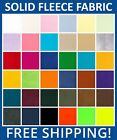 Solid Anti Pill Fleece Fabric 60 Wide Sold by Yard  Bolt Free Shipping