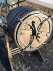 Antique 19th century Butter Churn Wood Barrel Metal Hand Crank Country Farm