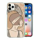 20's Feather Lady Portrait TPU Back Case Cover For Mobile Phone - S3