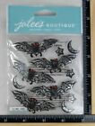 Jolees BLACK AND WHITE BATS REPEATS Stickers HALLOWEEN