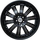 4 Wheels 20 inch Black NARSIS Rims fits SUBARU B9 TRIBECA 2006 2007