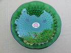 VINTAGE ANCHOR HOCKING FOREST GREEN TEAR DROP HOBNAIL CANDY DISH