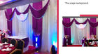Bright Purple Color Three Fold Wedding Stage Backdrop Wedding And Party Supply
