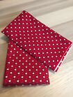 Christmas Fabric Red Heart Holly Ivy Small Pattern Quilting