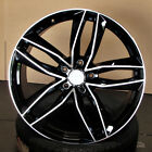 Audi S LINE RS6 Style 19x85 5x112 +35 Black Machined Face Wheels Set of 4