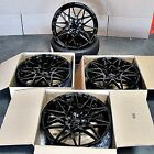 M3 Style 19x85 95 5x120 Gloss Black Wheels Set of 4 BMW F10 535i 550i