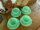 RARE Anchor Hocking Coffee/Tea Cups and Saucers