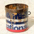 1930s Old Antique Beautiful Hand Crafted Iron Grain Measuring Pot / Iron Pot #13