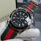 Gucci Dive Black Dial Red and Green Nylon Men's Watch YA136206
