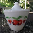 Vintage Fire King Apples and Cherries Grease Jar with Lid